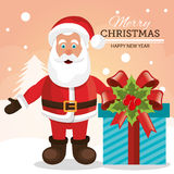 Merry christmas and happy new year card design Stock Photography