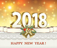 Merry Christmas and Happy New Year 2018 Royalty Free Stock Image