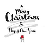 Merry Christmas and Happy New Year Card Stock Image