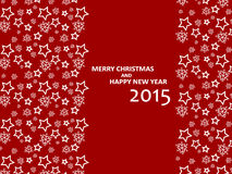 Merry Christmas and Happy New Year 2015. Card illustration Vector Illustration