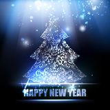 Merry Christmas and Happy New Year 2015 card. Stock Image