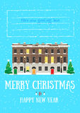 Merry Christmas and Happy New Year card Stock Photos