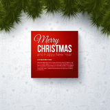 Merry Christmas and Happy New Year card with reali. Stic fir. Use it for Your winter holidays design Stock Images