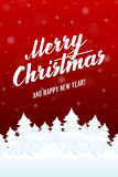 Merry Christmas and Happy new year card. Royalty Free Stock Photos