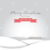 Merry christmas and Happy new year card. Christmas with snow greeting card, background and backdrop Royalty Free Stock Photos