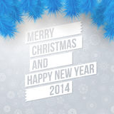 Merry Christmas and Happy New Year card. Royalty Free Stock Photo