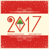 Merry christmas and Happy new year card with text.vector greetin. Merry christmas and Happy new year card with text.vector red greeting card illustration Royalty Free Stock Images