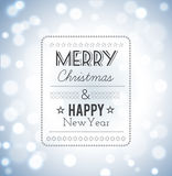 Merry Christmas and Happy New Year Card. Stock Image