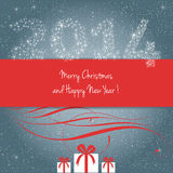 Merry Christmas and Happy New Year !. Merry Christmas and Happy New Year card, vector Stock Images