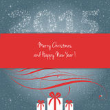Merry Christmas and Happy New Year 2015 !. Merry Christmas and Happy New Year card, vector Stock Images