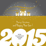 Merry Christmas and Happy New Year 2015 !. Merry Christmas and Happy New Year card, vector Royalty Free Stock Image