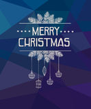Merry Christmas and Happy New Year Card. Royalty Free Stock Images