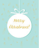 Merry Christmas and Happy New Year Card. Vintage Background With Typography royalty free illustration