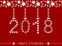 Merry christmas and a happy new year 2018 Royalty Free Stock Images