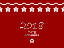 Merry christmas and a happy new year 2018 Stock Photo