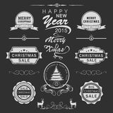 Merry Christmas Happy New Year celebration concept. Royalty Free Stock Photography
