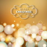 Merry Christmas and Happy New year celebration design.  Stock Photo