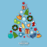 Merry Christmas and Happy New year celebration design.  Vector Illustration