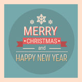 Merry Christmas Happy New Year Celebration Retro Holiday Banner Royalty Free Stock Images