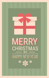 Merry Christmas Happy New Year Celebration Retro Holiday Banner Royalty Free Stock Photos