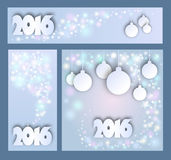 Merry Christmas and Happy New Year celebrations collection  Stock Images