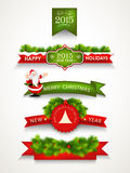 Merry Christmas and Happy New Year celebrations concept. Stock Images