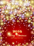 Merry Christmas and Happy New Year celebrations flyer, banner Royalty Free Stock Images