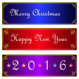 Merry Christmas and happy new year on Chinese Frame background h Stock Photo