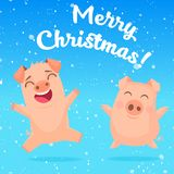 Fun pigs picture royalty free illustration