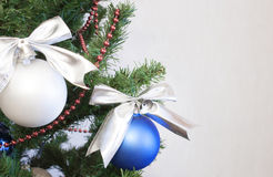 Merry Christmas and Happy New Year. Chrisnmas Tree, decoration Stock Images