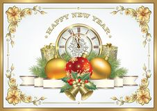 Merry Christmas and Happy New Year. Christmas decorations Stock Images