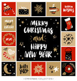 Merry Christmas and Happy New Year. Christmas greeting card Royalty Free Stock Images