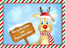 Merry Christmas and Happy New Year. Christmas greeting card Stock Photo