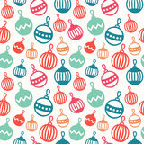 Merry Christmas and Happy New Year 2017. Christmas season hand drawn seamless pattern. Vector illustration. Doodle style Stock Photography