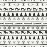 Merry Christmas and Happy New Year 2017. Christmas season hand drawn seamless pattern. Vector illustration. Doodle style Stock Image