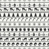 Merry Christmas and Happy New Year 2017. Christmas season hand drawn seamless pattern. Vector illustration. Doodle style Royalty Free Stock Photos
