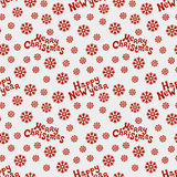 Merry Christmas and Happy New Year 2017. Christmas season hand drawn seamless pattern. Vector illustration. Doodle style. Decorations. Winter holiday Stock Images