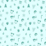 Merry Christmas and Happy New Year 2017. Christmas season hand drawn seamless pattern. Vector illustration. Doodle style Royalty Free Stock Image