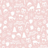 Merry Christmas and Happy New Year 2017. Christmas season hand drawn seamless pattern. Royalty Free Stock Images