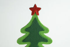 Merry Christmas and Happy New Year,Christmas tree Simulate on whit background Royalty Free Stock Images