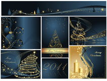 Merry Christmas and Happy New Year collection Royalty Free Stock Photos