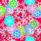 Merry Christmas and Happy New Year colorful background with snow Stock Images