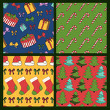 Merry Christmas and Happy New Year colorful seamless background Stock Images