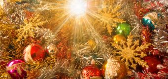 Merry Christmas and Happy New Year from the comet star Stock Image