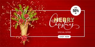 Christmas Sale Banner royalty free illustration
