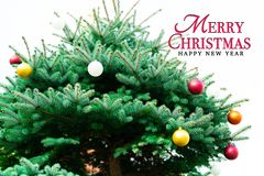 Merry Christmas and Happy New Year concept stock images