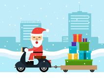 Merry Christmas and happy new year concept flat design Royalty Free Stock Photos