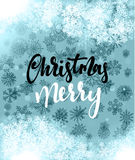 Merry Christmas and Happy New Year concept greeting card design. Postcard background for print or banner to your website. Handmade calligraphy Merry Christmas vector illustration