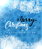 Merry Christmas and Happy New Year concept greeting card design. Royalty Free Stock Photos