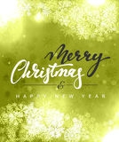 Merry Christmas and Happy New Year concept greeting card design. Royalty Free Stock Image